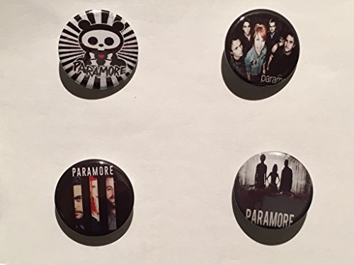 Paramore - Set di 4 spille / Badges
