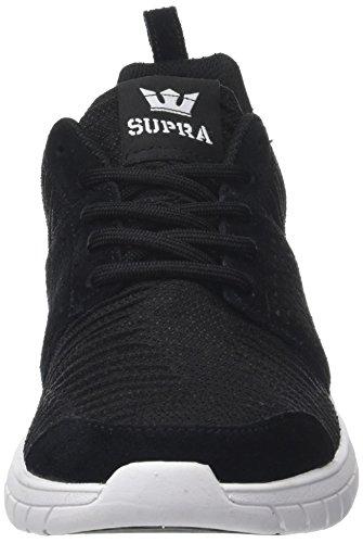 Supra Scissor, Baskets Basses Athlétiques Homme Noir (noir / Risque Rouge-blanc)