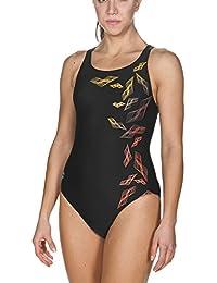 Arena Mujer Sport maracala–Bañador, mujer, Damen Sport Badeanzug Maracala, black-Turquoise, 38