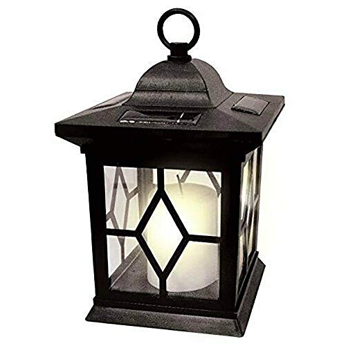GK - Farolillos de vela con energía solar/Lámpara/Luz de la llama de la lámpara del entrenador Luz solar de la energía del entrenador Mesa de terraza victoriana