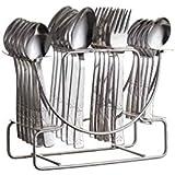 NAOE™ Losange (Casper) Cutlery Spoon set/silver-24pcs/stainless Steel/Gift Set