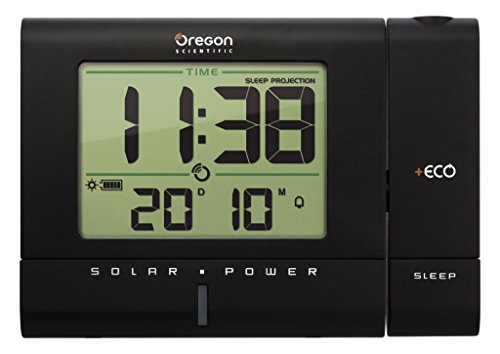 Oregon Scientific RM 336 PES reloj proyector solar, color negro