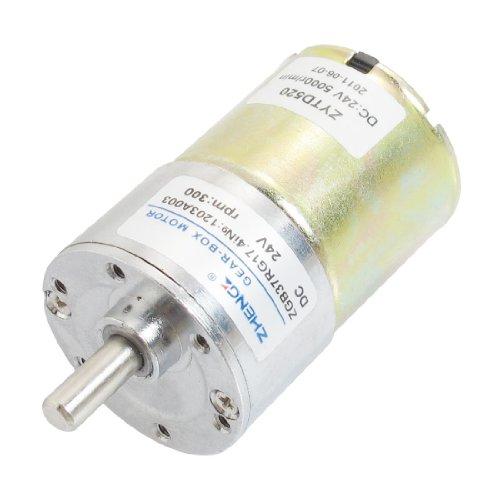 sourcingmap® DC 24V 300RPM Ausgang Geschwindigkeit Zylinder geformt Ofen Getriebemotor
