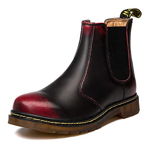 Orktree Unisex-Erwachsene Chelsea Boots Damen Stiefel Derby Wasserdicht Kurz Stiefeletten Schuhe Herren Worker Boots Rot