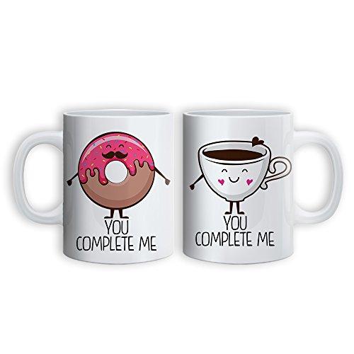 Babloo coppia di tazze mugs love you and me idea regalo san valentino break in love grafica 2