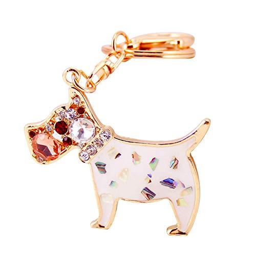Wicemoon Schlüsselanhänger Pudel Metall Anhänger Key Rings Handtasche Rucksack Dekoration Ornament - Womens Pudel