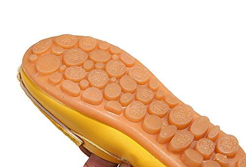 Eagsouni® Chaussure Bateau Mocassin Enfant Loisirs Confort Chaussures Fille Garçon Plates Loafers en Cuir Oxford Deep Blue