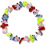 RS-Handel Lot de 100 colliers de fleurs style Hawaï Multicolore