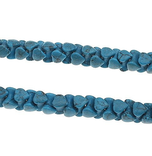 30 t rkis edelstein perlen blau naturstein knochen herz 10mm f r schmuck g979. Black Bedroom Furniture Sets. Home Design Ideas