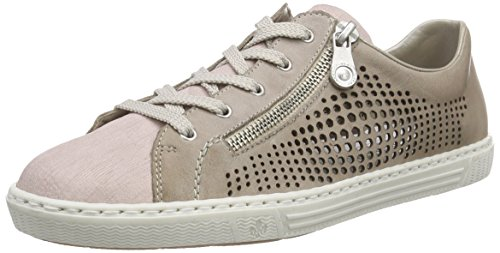 Rieker L0945 Women Low-top Damen Sneakers Grau (rose/steel / 32)