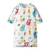 Unbekannt Babyschlafsack, Kleinkind, Baumwollschlafsack, sechsschichtiges Gaze-Cartoon-Muster, Junge und Mädchen (1-12 Monate),littlefox,M