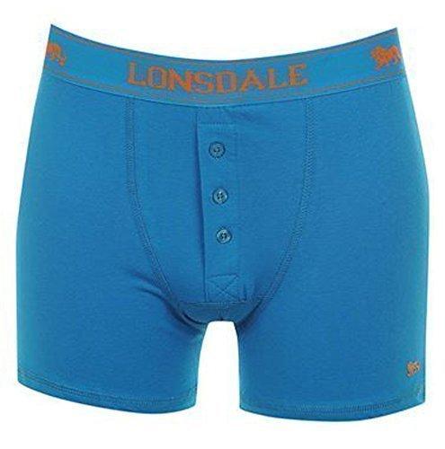 Lonsdale Men's Boxer Shorts, Pack of 2 mit Eingriff | Mittelblau Size:XXL