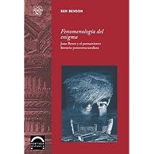 Fenomenología del enigma (Portada Hispánica)