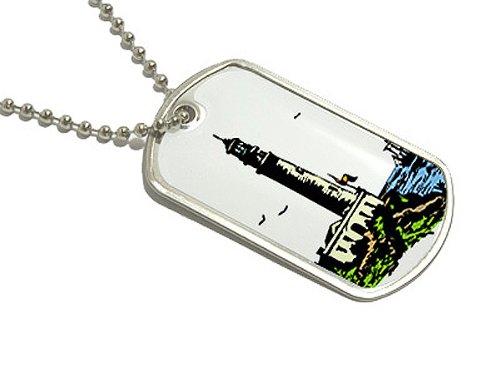 Preisvergleich Produktbild Leuchtturm-Militärische Erkennungsmarke Schlüsselanhänger