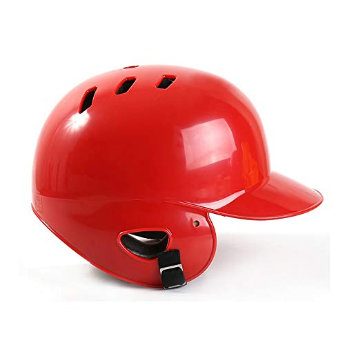 CX Best Casco da Battuta da Baseball Casco da Baseball Casco da Portiere Maschera Protettiva da Baseball Bandiera Casco da Calcio Ventilazione,Rosso