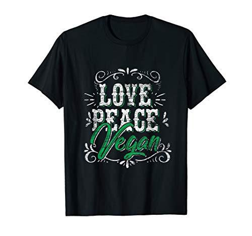 Frieden, Liebe T-shirts (Liebe Frieden Vegan T-Shirt)