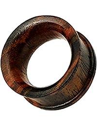 KULTPIERCING Organic Tunnel Plug Sono Holz Braun Flesh Piercing Ohr Plug