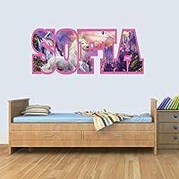 Customisable Unicorn Childrens Name Wall Art Decal Vinyl Stickers for Boys/Girls Bedroom