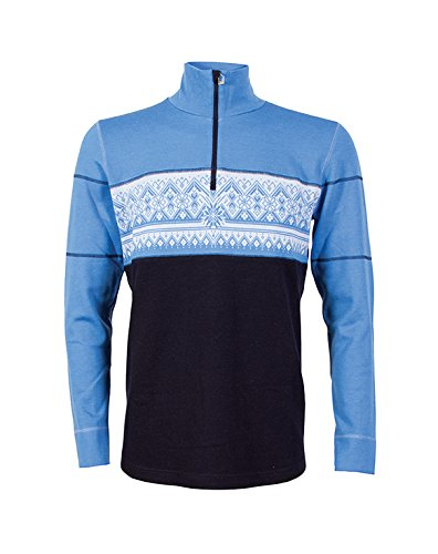 Dale of Norway felpa da uomo Rondane Mascu Line Sweater Navy/Sky Blue