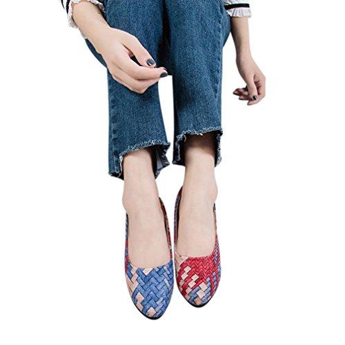 Beikoard promozione della moda sandali donna taco scarpe da donna scarpe da donna (blu, 39)