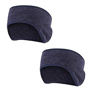 TAGVO Winter Stirnband Ohr wärmer, 2 Pack leichte warme Fleece Material Full Cover Ohrenschützer Sport Schweißband Multifunktions Stirnbänder für Erwachsene Männer und Frauen