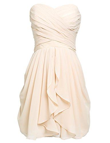 Clearbridal Damen Mini Chiffon Ballkleid Abendkleider Faltenrock Abschlussballkleider CSD247...