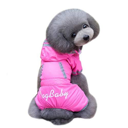 Kunliyin YY1 Hund Regenmantel Kappa Regenschutz/Belüftung/mit Hut/kleiner Wanderhund klein mittel Hund groß Hund spät wasserdicht hochwertige Haltbarkeit komfortable Outdoor 5 Größe