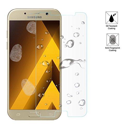 3 Stück Samsung Galaxy A5 Panzerglas, Voroar 9H Härte Schutzfolie Displayschutz / Ultra-klar Displayschutzfolie / Glas Folie gegen Öl und Fingerabdruck Panzerglasfolie - 5