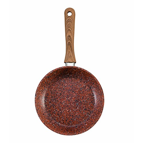 Jml Copper Stone Frying Pan Non-Stick & Hard Wearing with Wood Effect Handle 24cm