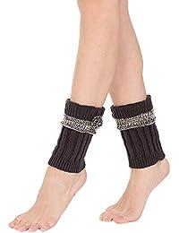 FAMILIZO Calcetines Mujer De Invierno Caliente De Punto Calentadores De Piernas Ganchillo Leggings Calcetines De Arranque