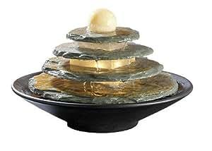 Fontana luminosa feng shui in ardesia tao - Giardino feng shui ...