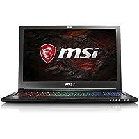 MSI GS63VR 7RF (Stealth Pro) 212UK 15.6 Inch Gaming  Laptop (Black) - (Kabylake Core i7-7700HQ, HM175 16 GB RAM, 256GB SSD, 2TB HDD, GTX 1060,  No-ODD FHD Win10 2yr)