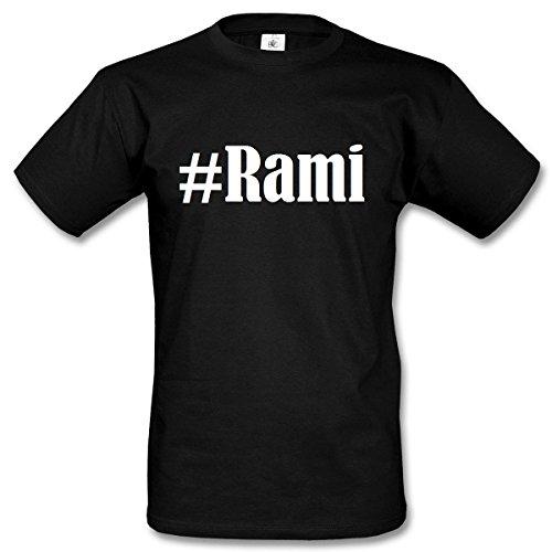 T-Shirt #Rami Hashtag Raute für Damen Herren und Kinder ... in den Farben Schwarz und Weiss Schwarz