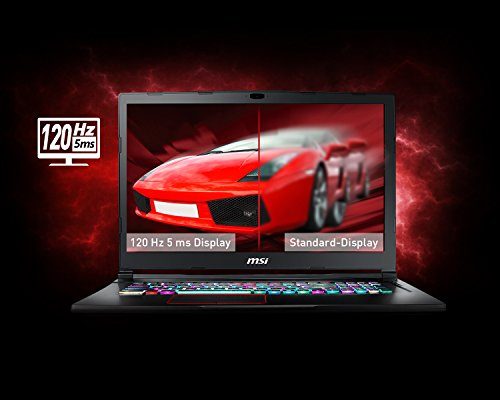 MSI GE73VR 7RF 042DE Raider 439 cm 173 Zoll 120Hz Gaming Notebook Intel center i7 7700HQ 16GB RAM 256 GB SSD 1 TB HDD Nvidia GeForce GTX 1070 Windows 10 residence schwarz GE73 Notebooks