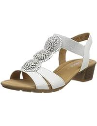 3f0618e2bf3 Amazon.es  Blanco - Sandalias de vestir   Zapatos para mujer ...