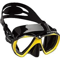 Cressi Ranger Mask Masque plongée Mixte Adulte Unisexe, Noir/Jaune, Unique