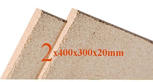 2x20 mm Vermiculite Platte Brandschutzplatten 400x300x20mm Schamotte Ersatz