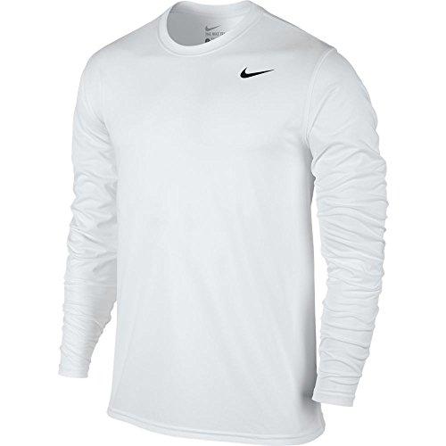 Nike Mens Legende 2.0 Long Sleeve Dri-Fit Trainings T-Shirt Weiß/Schwarz 718837-100 Größe 2 X-Large