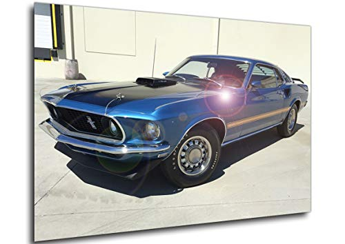 Poster - Auto Vintage - Historic - Ford - Mustang Cobra Jet 428-1969 A4 30x21