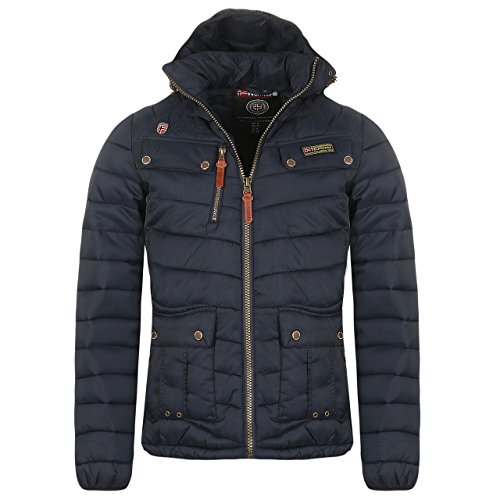 Geographical Norway Herren Winterjacke AMIDA mit Kapuze (L, Navy)