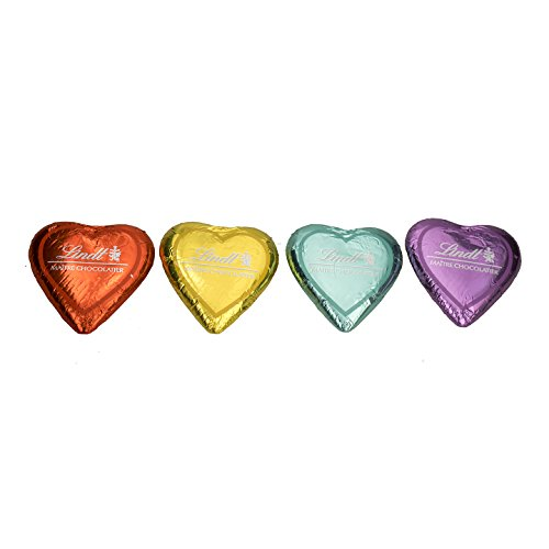 Cioccolatino cuore al latte lindt san valentino 4 colori