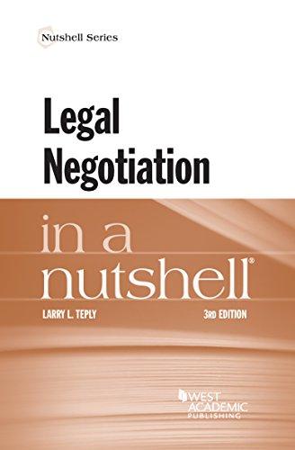 Legal Negotiation in a Nutshell (Nutshell Series)