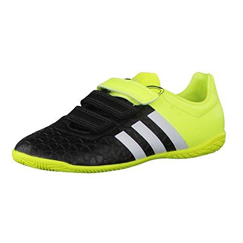 adidas Ace 15.4 In J Hl, Scarpe da Calcio Bambino Black - Schwarz Kombi