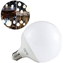 Liqoo® 15W E27 LED lámpara de forma mundo Globo Globo Bombillas Blanco cálido 2800K, 1300 lúmenes Reemplaza 90W, 270 ° Ángulo de visión, 2835 SMD, Ø120 x 156mm