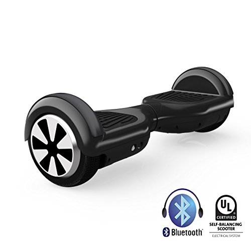 Hiboy TW01-0006 Hoverboard en Negro, CON BLUETOOTH