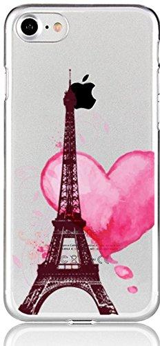 blitzversand Handyhülle Paris kompatibel für iPhone 6 / 6s Herz Schutz Hülle Case Bumper transparent M11