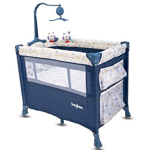 Baybee Zeus Baby Play Pen Premium Quality Portable Travel Cot Baby Bed Cum Cot