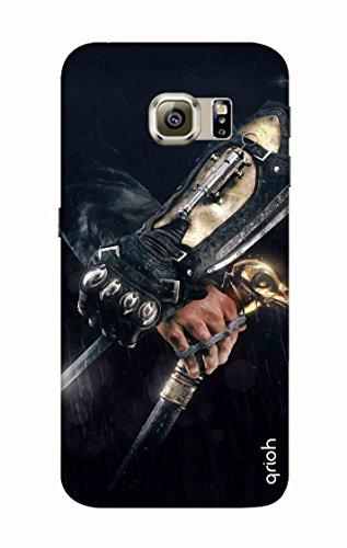 Qrioh Printed Designer Back Case Cover for Samsung S6 - Hidden blade