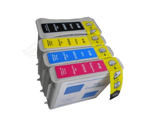 Preisvergleich Produktbild N.T.T.® 4 Stück XL Tintenpatronen kompatibel zu HP88 für HP Officejet Pro K550 K550DTN K550DTWN K5300 K5400 L7000 L7400 L7500 L7550 L7580 L7588 L7600 L7650 L7680 L7681 L7700 L7710 L7750 L7780 L7880 -PREMIUM QUALITÄT-