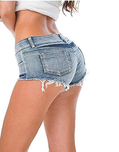 BOC Shorts Nachtclub Shorts Nachthemden Lead Dance Kostüm Pole Dance Kostüm Performance Kleidung Damenjeans Shorts Hot Pants Nightclub Low-Rise Denim - Fehler Code Kostüm